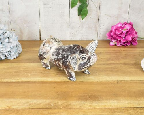 Little Wooden Pig Wood Carving